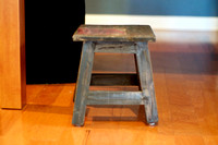 distressed stool (toddler sized)